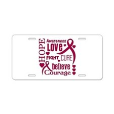 Amyloidosis Hope Words Aluminum License Plate