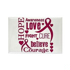 Amyloidosis Hope Words Rectangle Magnet (10 pack)