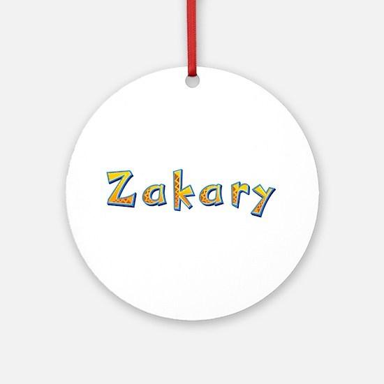 Zakary Giraffe Round Ornament