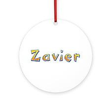 Zavier Giraffe Round Ornament