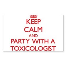 Keep Calm and Party With a Toxicologist Decal