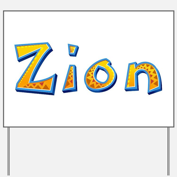 Zion Giraffe Yard Sign