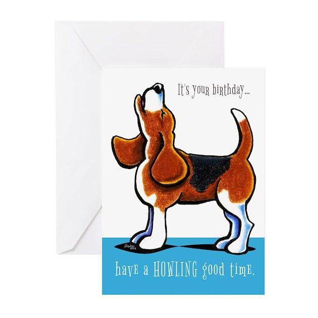 beagle howling funny birthday greeting cards by ahamiltonart, Birthday card