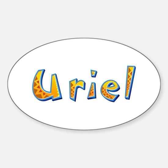 Uriel Giraffe Oval Decal