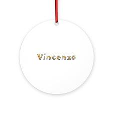 Vincenzo Giraffe Round Ornament