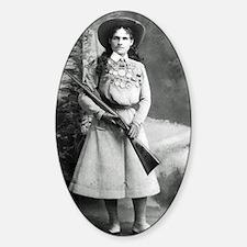Vintage Photo of Annie Oakley Sticker (Oval)