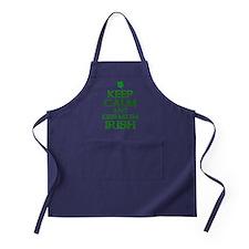 Keep Calm Irish Apron (dark)