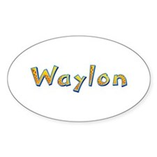 Waylon Giraffe Oval Decal