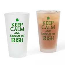 Keep Calm Irish Drinking Glass