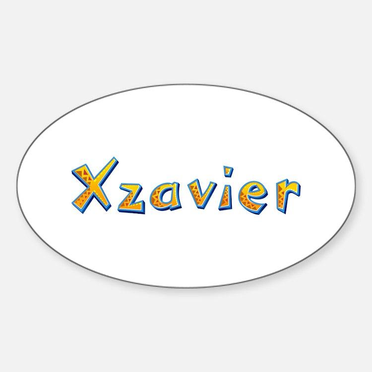 Xzavier Giraffe Oval Decal