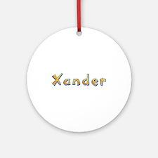 Xander Giraffe Round Ornament