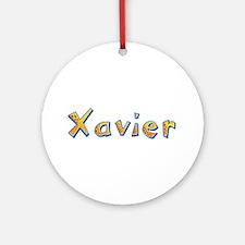 Xavier Giraffe Round Ornament