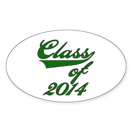 Green Class of 2016 Sticker (Oval 10 pk)