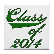 Green Class of 2014 Tile Coaster