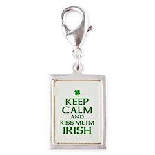 Keep Calm Irish Silver Portrait Charm