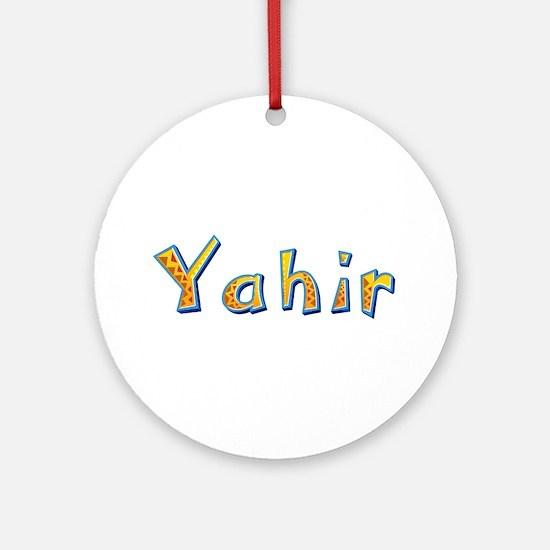 Yahir Giraffe Round Ornament