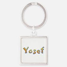 Yosef Giraffe Square Keychain