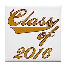 Gold Class of 2014 Tile Coaster