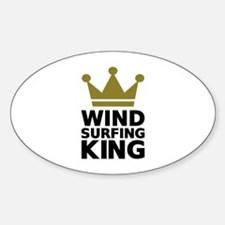 Windsurfing King Sticker (Oval)