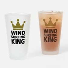 Windsurfing King Drinking Glass