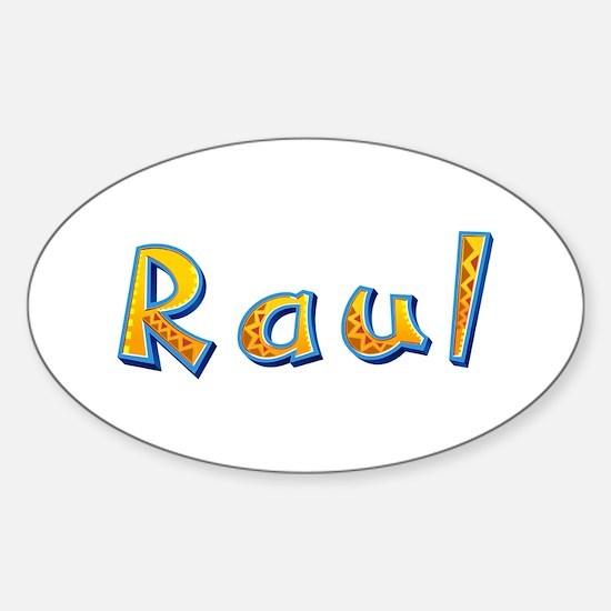 Raul Giraffe Oval Decal