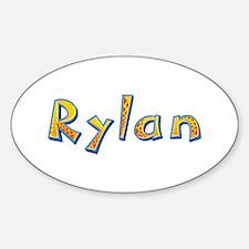 Rylan Giraffe Oval Decal