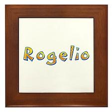 Rogelio Giraffe Framed Tile