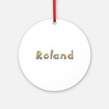 Roland Giraffe Round Ornament