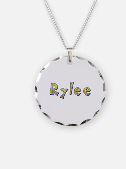 Rylee Giraffe Necklace Circle Charm