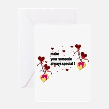 Make your someone special - Hearts Greeting Card