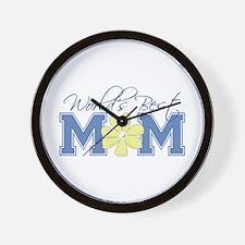 Best Mom Blue Wall Clock