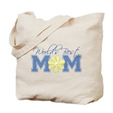 Best Mom Blue Tote Bag