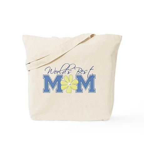 Best Mom Blue Tote Bag