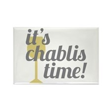 Chablis Time Rectangle Magnet