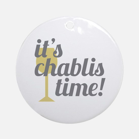 Chablis Time Ornament (Round)
