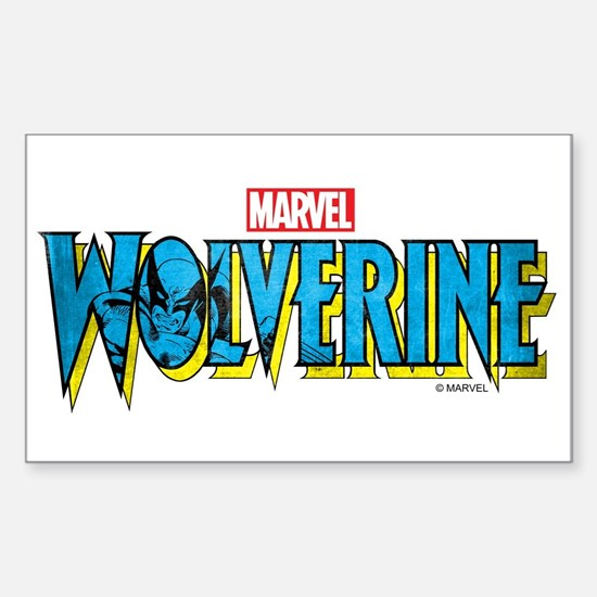Wolverine Logo Sticker (Rectangle)
