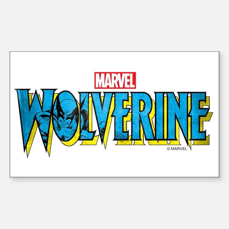 Wolverine Logo Sticker (Rectangle)