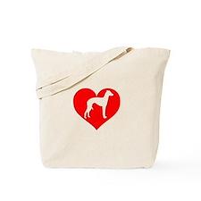 Love Heart Italian Greyhound Tote Bag