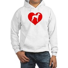 Love Heart Italian Greyhound Hoodie