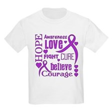 Cystic Fibrosis Hope Words T-Shirt