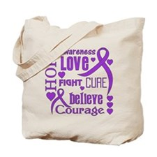 Cystic Fibrosis Hope Words Tote Bag