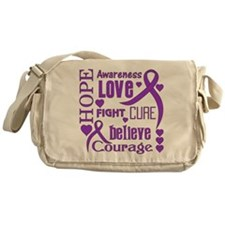 Cystic Fibrosis Hope Words Messenger Bag