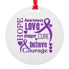 Cystic Fibrosis Hope Words Ornament