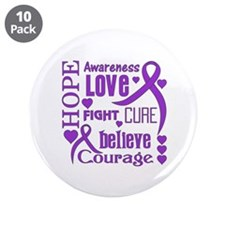 """Cystic Fibrosis Hope Words 3.5"""" Button (10 pack)"""