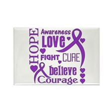 Cystic Fibrosis Hope Words Rectangle Magnet