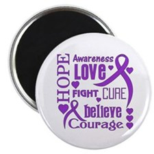 "Cystic Fibrosis Hope Words 2.25"" Magnet (10 pack)"
