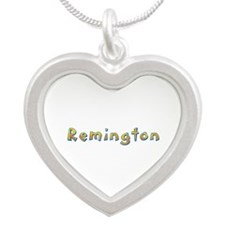 Remington Giraffe Silver Heart Necklace
