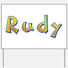 Rudy Giraffe Yard Sign