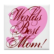 Mother's Day Worlds Best Mom Tile Coaster