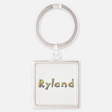 Ryland Giraffe Square Keychain